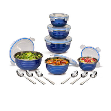 6 Leak Proof Serving & Storage Sets + 6 Spoons