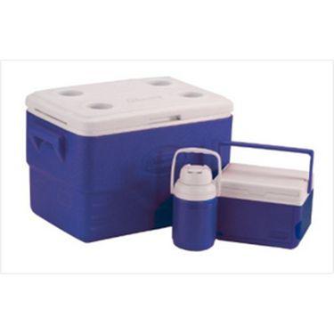 Coleman Set Of Cooler (36Qt) 33.84 Ltrs & (5 Qt) 4.7 Ltrs + (0.3 Gallon) 1.13 Ltrs Jug - Blue