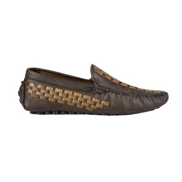 Yellow Tree Synthetic Leather Loafers Shoes 645-Black