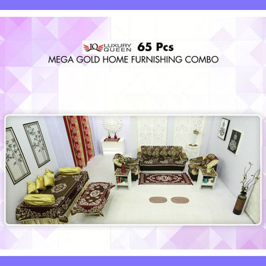 65 Pcs Mega Gold Home Furnishing Combo