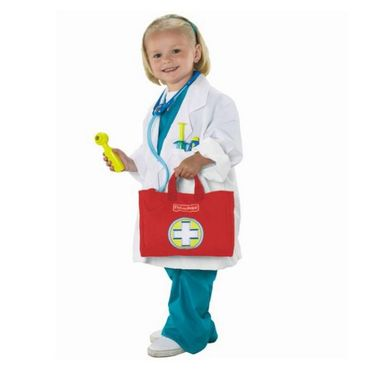Mattel Fisher Price Medical Kit With Red Bag