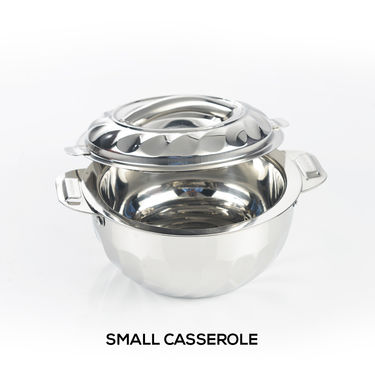6 Pcs Stainless Steel Casserole Set with Chopping Board & Knife Set