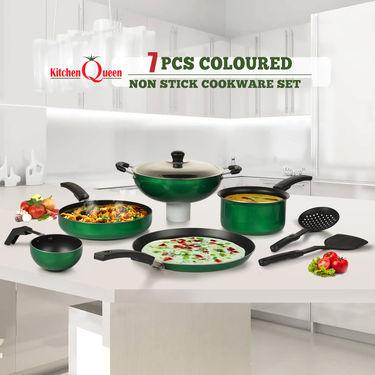7 Pcs Colored Non Stick Cookware Set