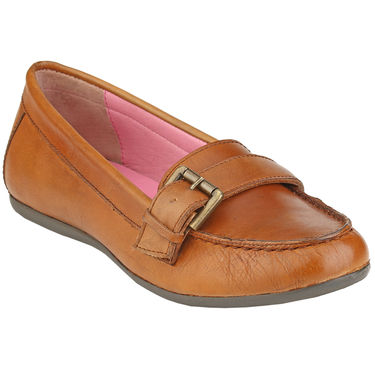 Delize Leather Womens Loafers 7752-Tan