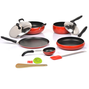 8 Pcs Apple Shaped Non-Stick Cookware