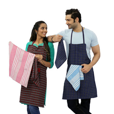 8 Pcs 100% Cotton Kitchen & Apron Combo - Pick Any 1