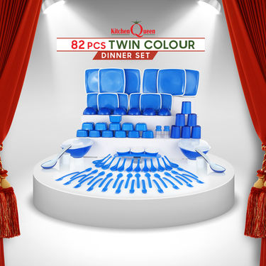 82 Pcs Twin Colour Dinner Set