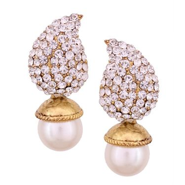 Vendee Fashion Austrain Diamond Earrings - Golden _ 8522