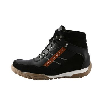 Bacca bucci Genuine Leather Boots 8600 - Black