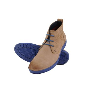 Delize Suede Leather Casual Shoes 8607-Beige