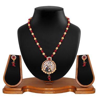 Vendee Fashion Unique Peacock Necklace Set - Multicolour _ 8622