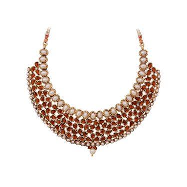 Vendee Fashion Stylish Necklace Set - Brown