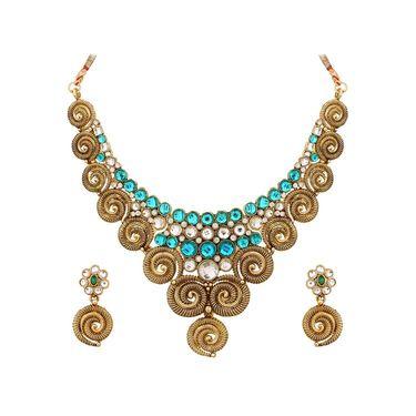 Vendee Fashion Stylish Necklace Set - Sky Blue
