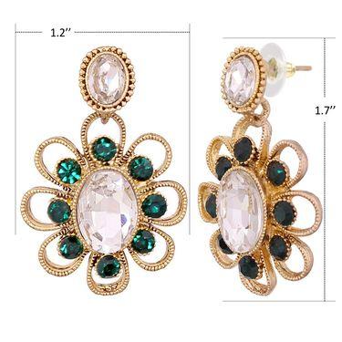 Vendee Fashion Stylish Earrings - Green