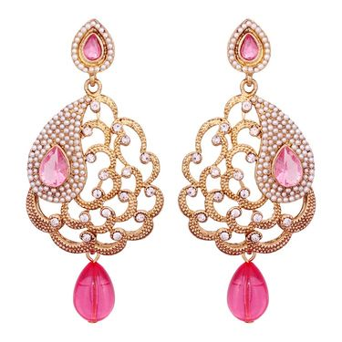 Vendee Fashion Stylish Earrings - Pink