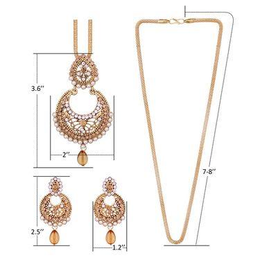 Vendee Fashion Stylish Pendant Set - Brown