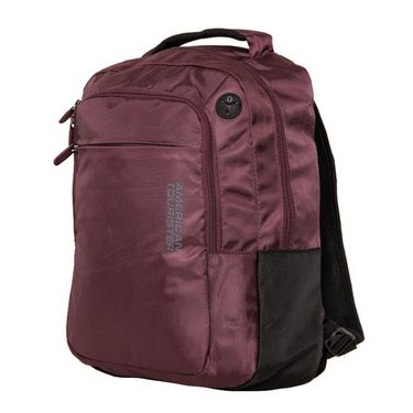 American Tourister Polyester Backpack At34 -Brown