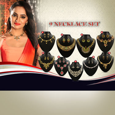 9 Necklace Sets by Vellani