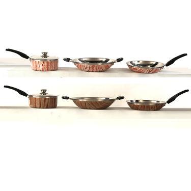 9 Pcs Printed Cookware Set