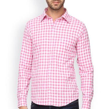 Crosscreek Full Sleeves Cotton Casual Shirt_302 - Pink