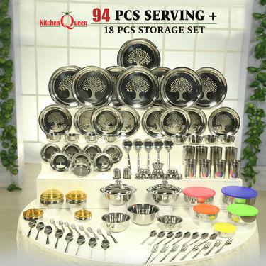 94 Pcs Serving + 18 Pcs Storage Set