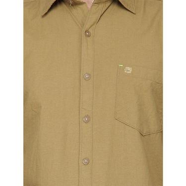 Crosscreek Half Sleeves Cotton Casual Shirt_325 - Beige