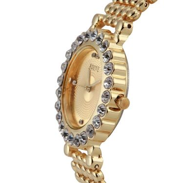 Adine Round Dial Analog Watch For Women_Ad1003 - Gold