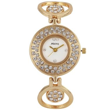 Adine Round Dial Analog Watch For Women_Ad1004 - White