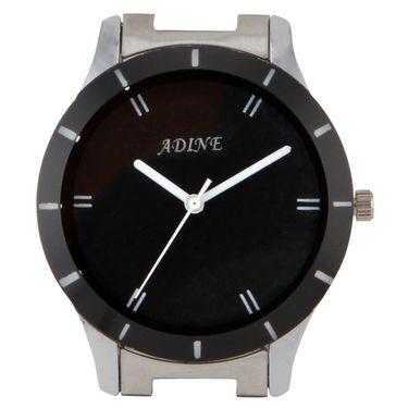 Adine Round Dial Analog Watch For Men_Ad1009 - Black