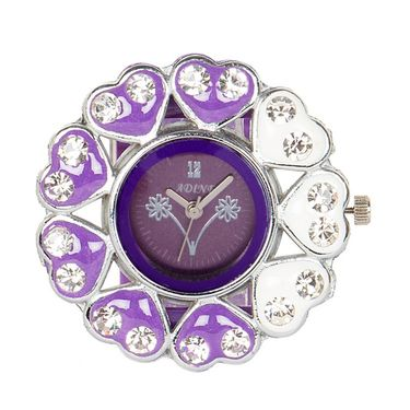 Adine Analog Round Dial Watch For Women_AD110014 - Purple