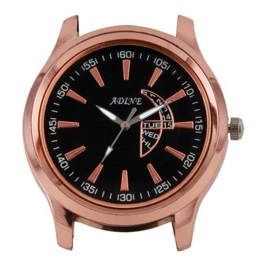 Adine Round Dial Analog Watch For Men_Ad6019 - Black