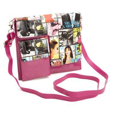 Arisha Leather Sling Bag AE19a  -Pink