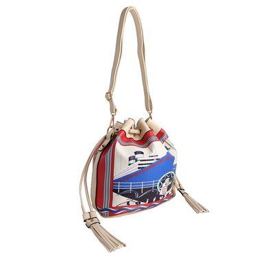 Arisha Leather Handbag AE39 -Cream