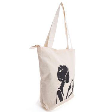 Arisha Cotton Khadi Handbag AE40n -Cream