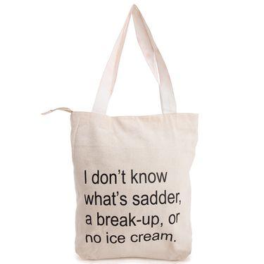 Arisha Cotton Khadi Handbag AE40s -Cream