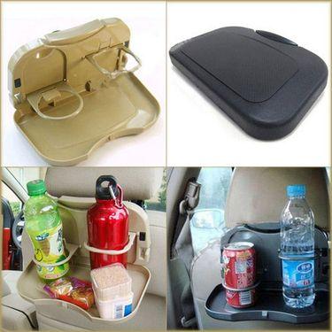 Automobile Car Meal Plate Drink Cup Holder Tray-AF1629