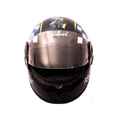 Mototrance Sober Rodick Checkmate Multi Graphics Full Face Helmet (Black)