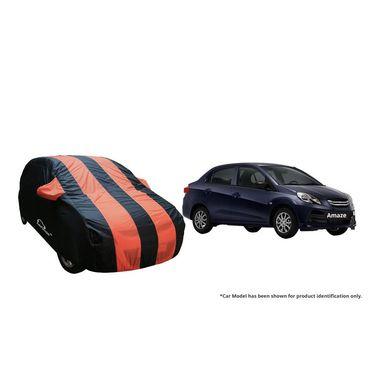 Autofurnish Stylish Orange Stripe Car Body Cover For Honda Amaze  -AF21128