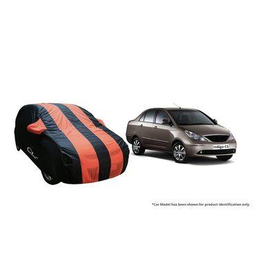 Autofurnish Stylish Orange Stripe Car Body Cover For Tata Safari Storme -AF21139