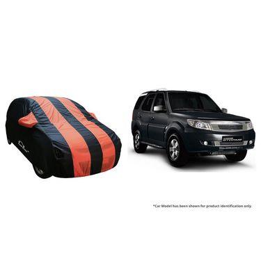 Autofurnish Stylish Orange Stripe Car Body Cover For Tata Bolt  -AF21144
