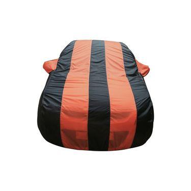 Autofurnish Stylish Orange Stripe Car Body Cover For Mahindra Verito  -AF21173