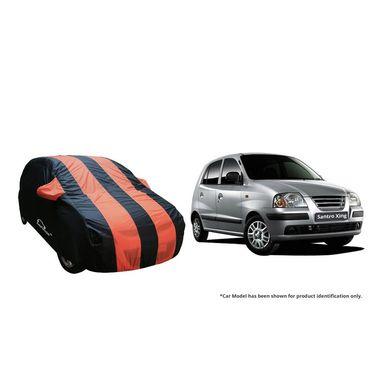 Autofurnish Stylish Orange Stripe Car Body Cover For Hyundai Santro Xing -AF21193