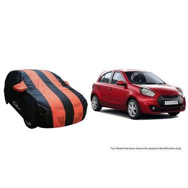 Autofurnish Stylish Orange Stripe Car Body Cover For Renault Duster  -AF21224