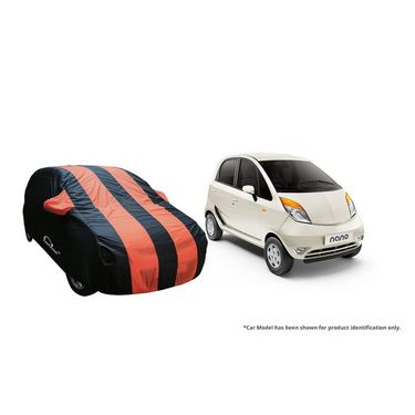 Autofurnish Stylish Orange Stripe Car Body Cover For Tata Safari  -AF21234