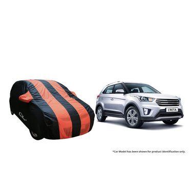 Autofurnish Stylish Orange Stripe Car Body Cover For Hyundai Creta  -AF21246