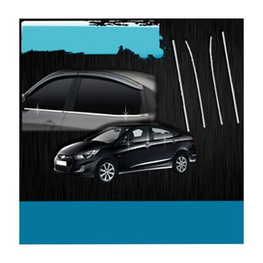 Hyundai Verna Fluidic Window Garnish Chrome Set
