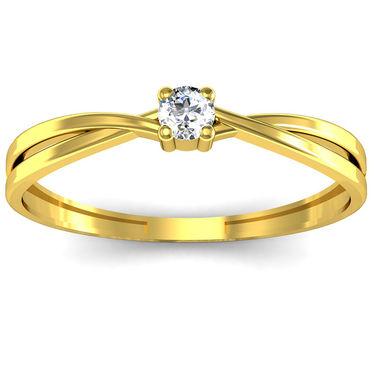 Ag Real Diamond Nidhi Ring_AG0099y