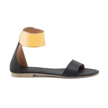 Aleta Synthetic Leather Womens Flats Alwf0116-Black