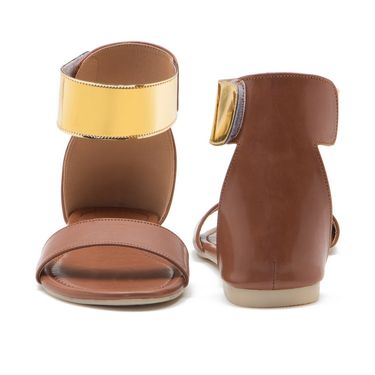 Aleta Synthetic Leather Womens Flats Alwf0116-Tan