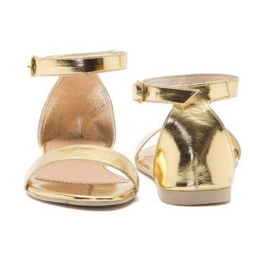 Aleta Synthetic Leather Womens Flats Alwf0216-Gold
